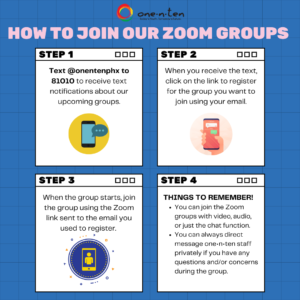How to Join one•n•ten Zoom Groups